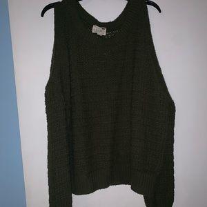 LA Hearts green sweater